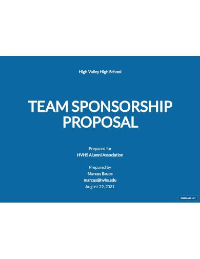 team sponsorship proposal