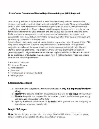thesis research paper proposal